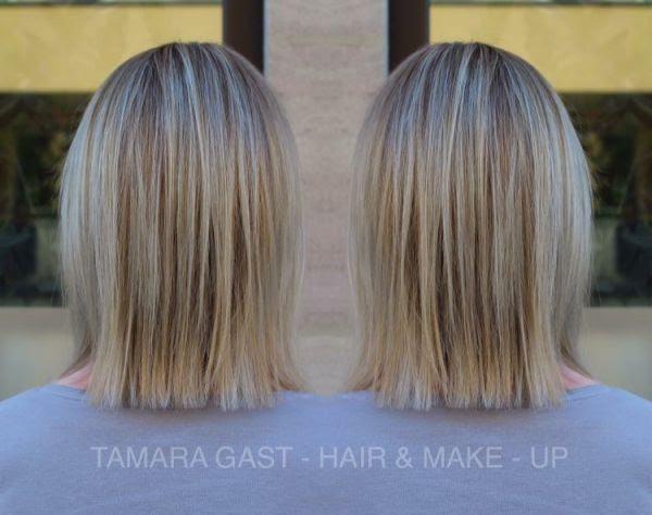 Blonde Haare Dunkel Strähnen Friseur Haare Färben Strähnchen