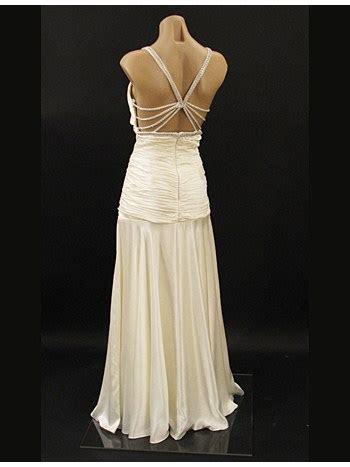 30's Old Hollywood Style Ivory Satin Wedding Dress Evening