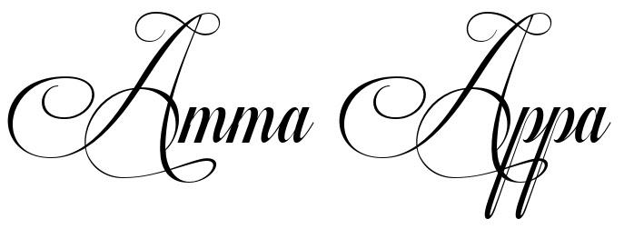 Tattoo Fonts Amma Appa Logo Tattoo Ideas