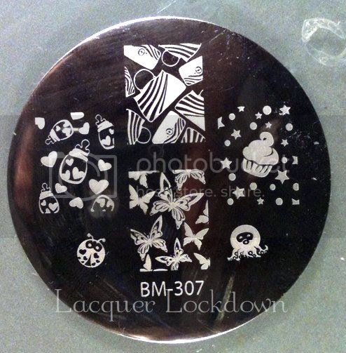 Lacquer Lockdown - quality control, Bundle Monster 2012 plates, LLDBHB, stamping, BM307