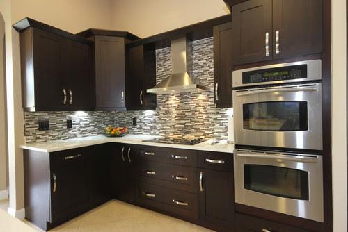Espresso Color Kitchen Cabinets Countertop Ideas