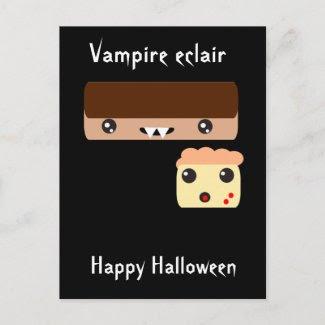 "Vampire eclair ""Happy Halloween"" Post Cards"
