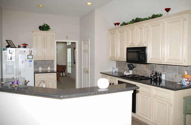 real wood or fake-bleached wood cabinets? (kitchen ...