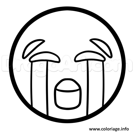 Coloriage Comment Dessiner The Crying Laughing Emoji Jecoloriecom