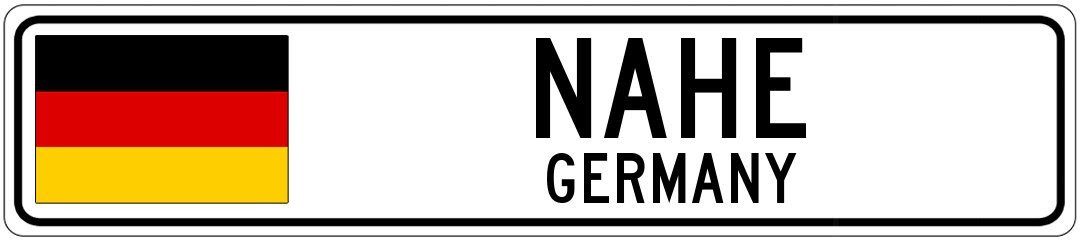 Nahe Germany Aluminum City Sign