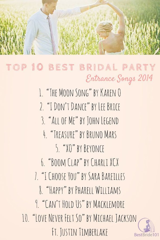 Fun Entrance Songs For Wedding Party