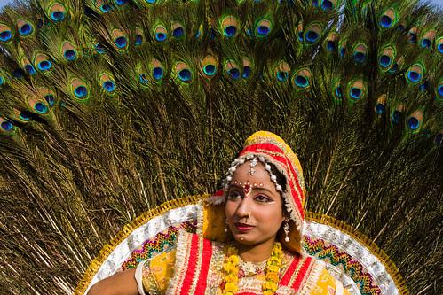 _MG_2274 Peacock the symbol of beauty - Elephant Festival - Jaipur India by © Cameron Herweynen.