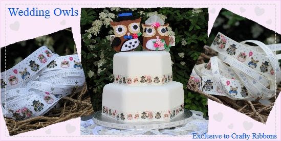 wedding owl ribbon