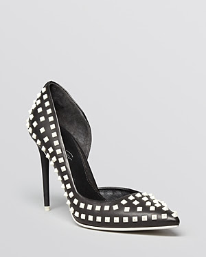 Kenneth Cole York Studded D'Orsay Pumps