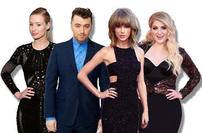 2015 Billboard Music Awards photo bbma-nominees-iggy-azalea-sam-smith-taylor-swift-meghan-trainor-2015-billboard-650.jpg