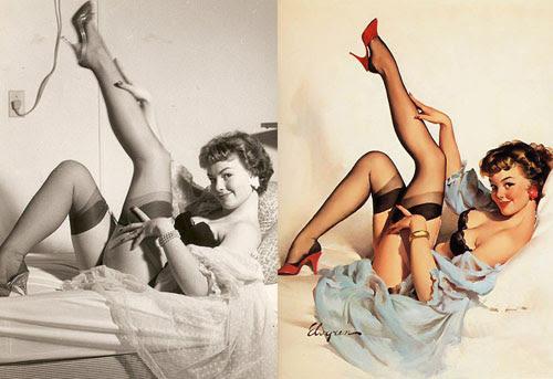 Antes e Depois Pinup, referencias fotograficas, Gil Elvgren, dicas para ilustradores by ila fox