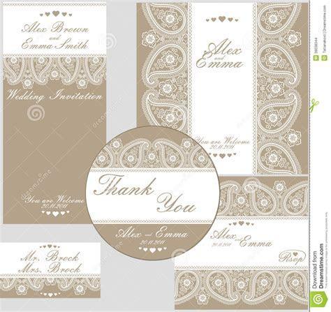 Elegant Wedding Design Template Of Lace Stock Vector