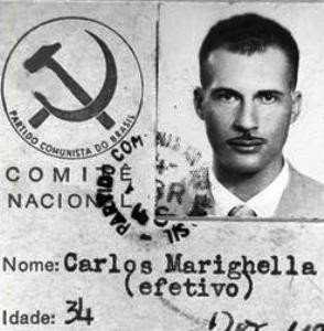 Carteira de filiação de Marighella ao Partido Comunista Brasileiro (PCB) em 1945, antes de liderar a criação da ALN, o grupo guerrilheiro fundado em 1966 (Foto: Arquivo)