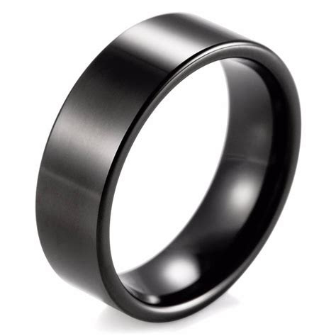 latest matte black mens wedding bands