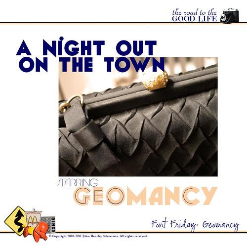 Font Friday: Geomancy