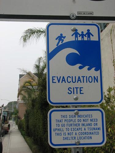 Tsunami sign next to my hotel