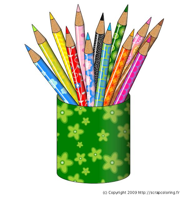 Coloriage Crayons De Couleur