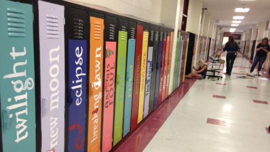 Lockers become books atBiloxi Junior High