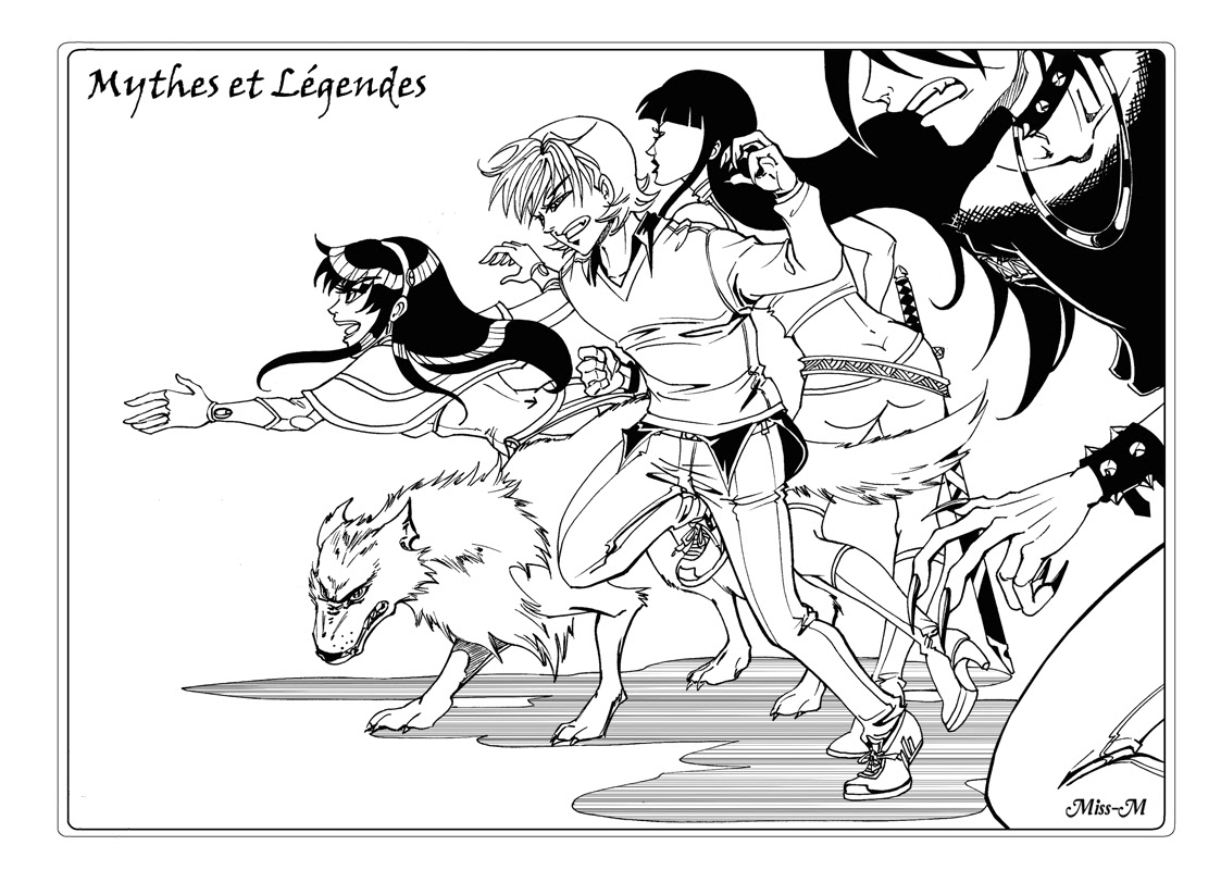 Miss-M illustration Mythes et Légendes Shojo manga