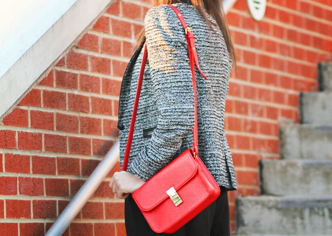 Stylemint, Zara blazer, Velvet loafers, Celine red bag, Mary Kate and Ashley, Fashion outfit