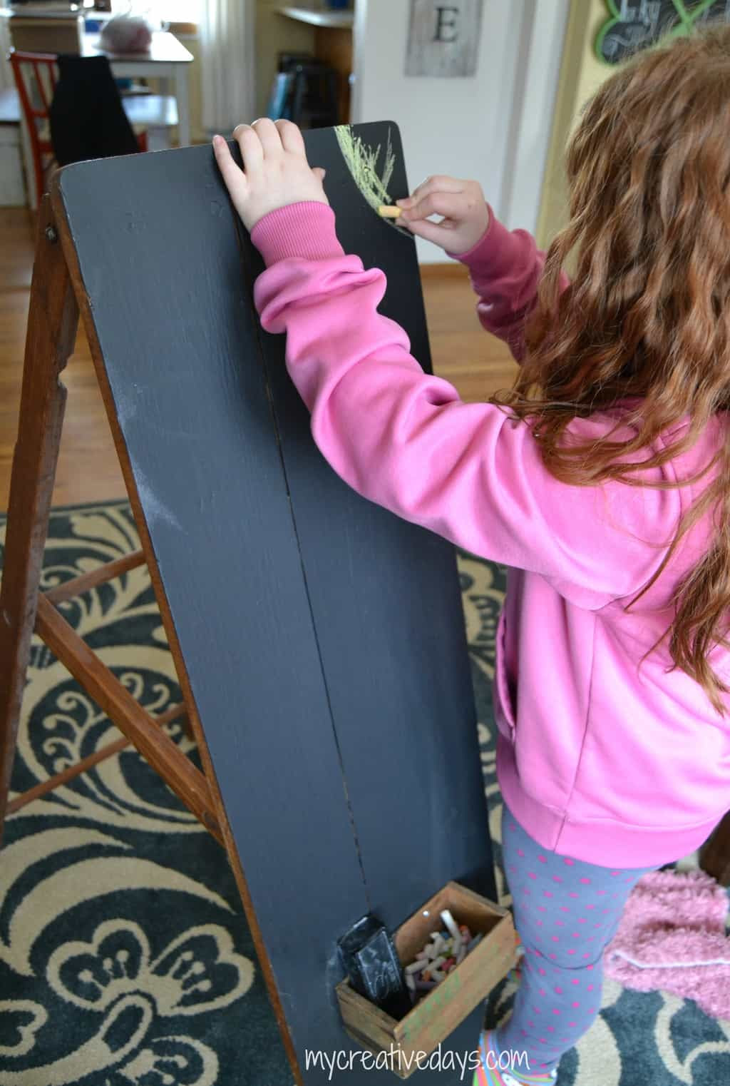 Repurposed Iron Board To Chalkboard mycreativedays.com