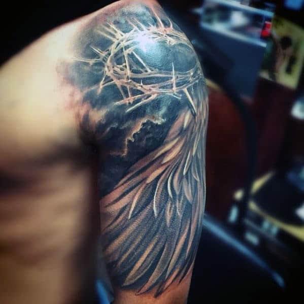 50 Jesus Sleeve Tattoo Designs For Men Religious Ink Ideas