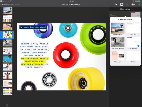 Keynote,l'app ufficiale di Apple si aggiorna alla vers 3.1