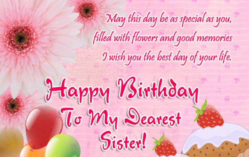 Happy Birthday Sister Wishes Messages Quotes Sister Birthday Wishes