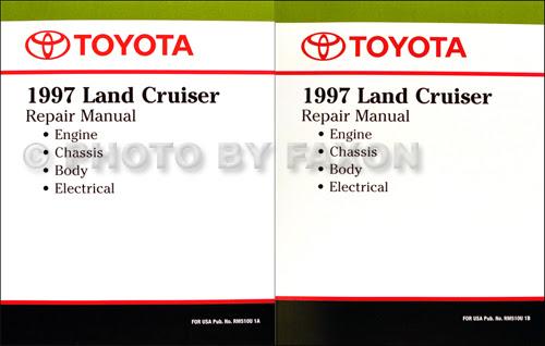 1997 Toyota Land Cruiser Wiring Diagram Manual Original