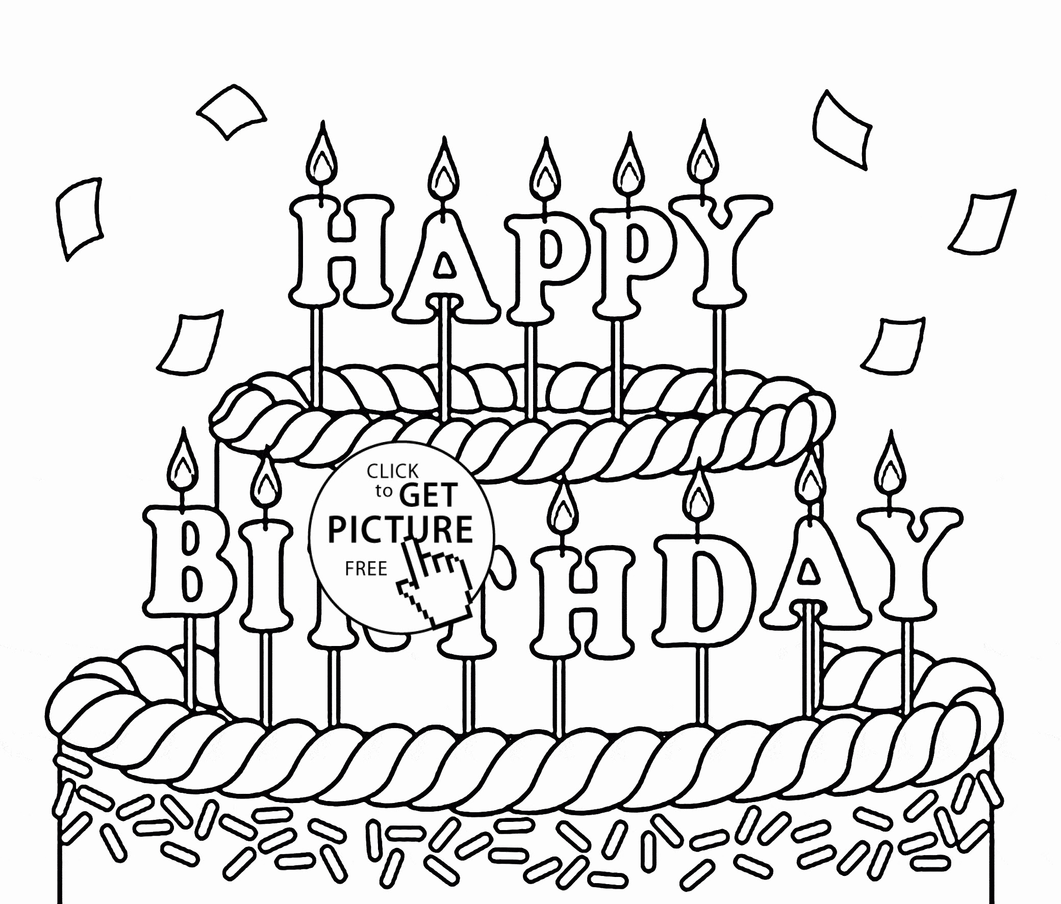 Happy Birthday Coloring Pages To Print at GetColorings.com ...