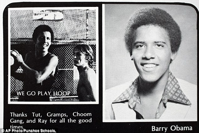 President Obama used marijuana at school. This photograph is from his yearbook and thanks his friends in the Choom Gang - slang for smoking pot - and Ray, his drug dealer