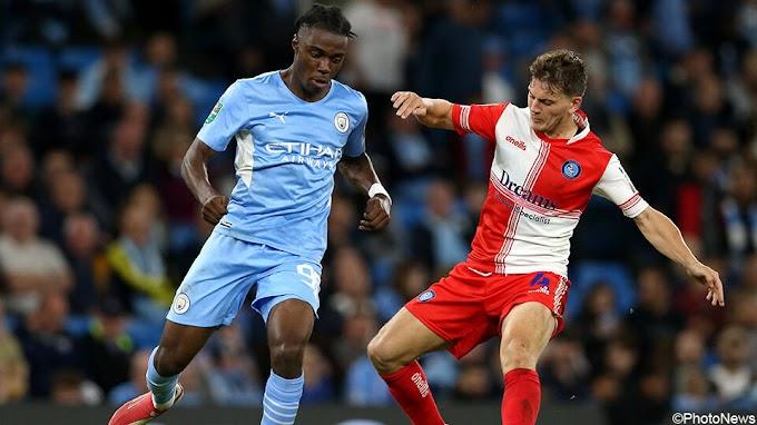 17-jarige Belg Lavia debuteert in klinkende bekerzege van Manchester City