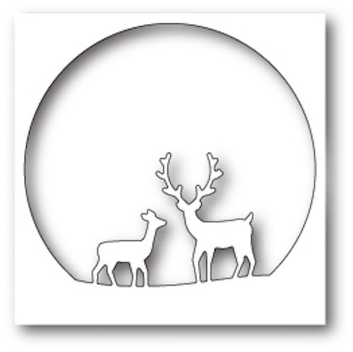 Memory Box - Craft Die - Deer Family Circle