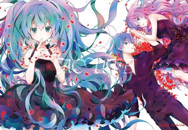 Tags: Anime, Asahina Shiori, Project DIVA F, VOCALOID, KAITO, Hatsune Miku, Megurine Luka