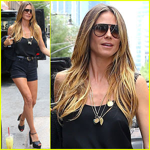 Heidi Klum Has Legs for Days, Struts Her Stuff in NYC