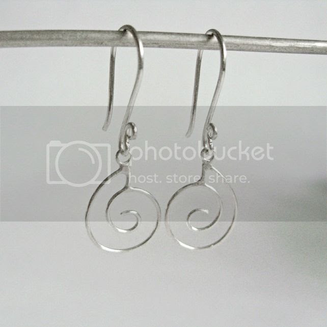 nautilus shell earrings - silver moss jewellery