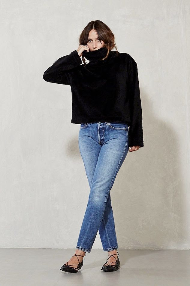 Le Fashion Blog Transition To Spring Black Turtleneck Knit Vintage Levis Jeans Chain Lace Up Flats Via Reformation photo Le-Fashion-Blog-Transition-To-Spring-Black-Turtleneck-Knit-Vintage-Levis-Jeans-Chain-Lace-Up-Flats-Via-Reformation.jpg