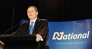 John Key at his victory speech at SKYCITY, Auc...