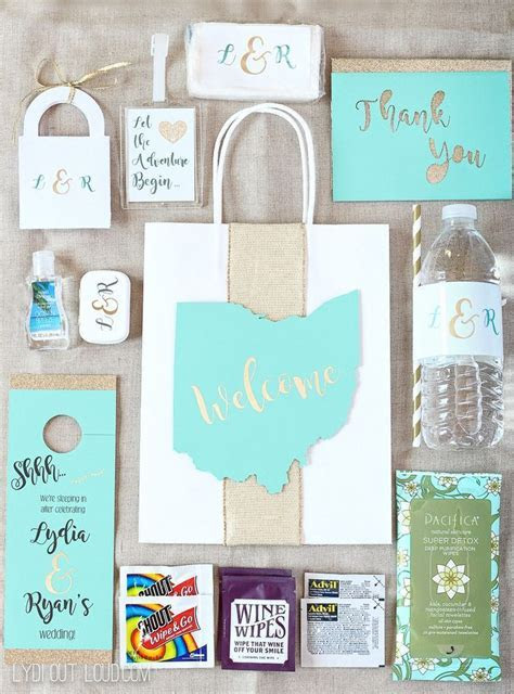 DIY Wedding Guest Gift Bags & Essentials   Cricut Ideas