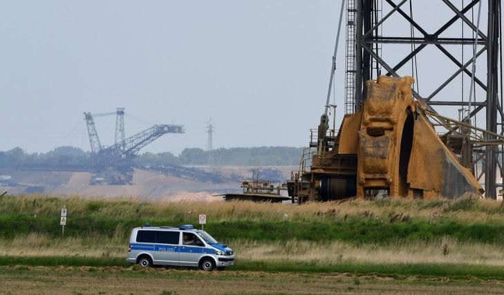 Mine de charbon à Jackerath, près d'Erkelenz, dans l'ouest de l'Allemagne, le 24 août 2017.