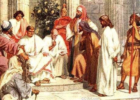 Jesús es juzgado por Pilato