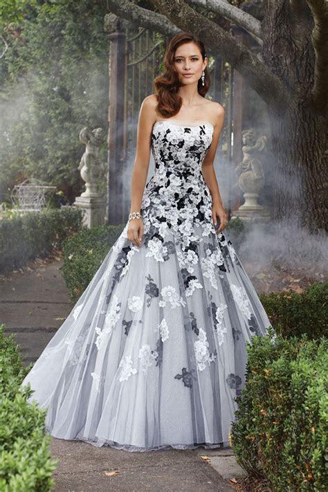 Avant Garde Modern Romantic Black Ivory White Ball Gown