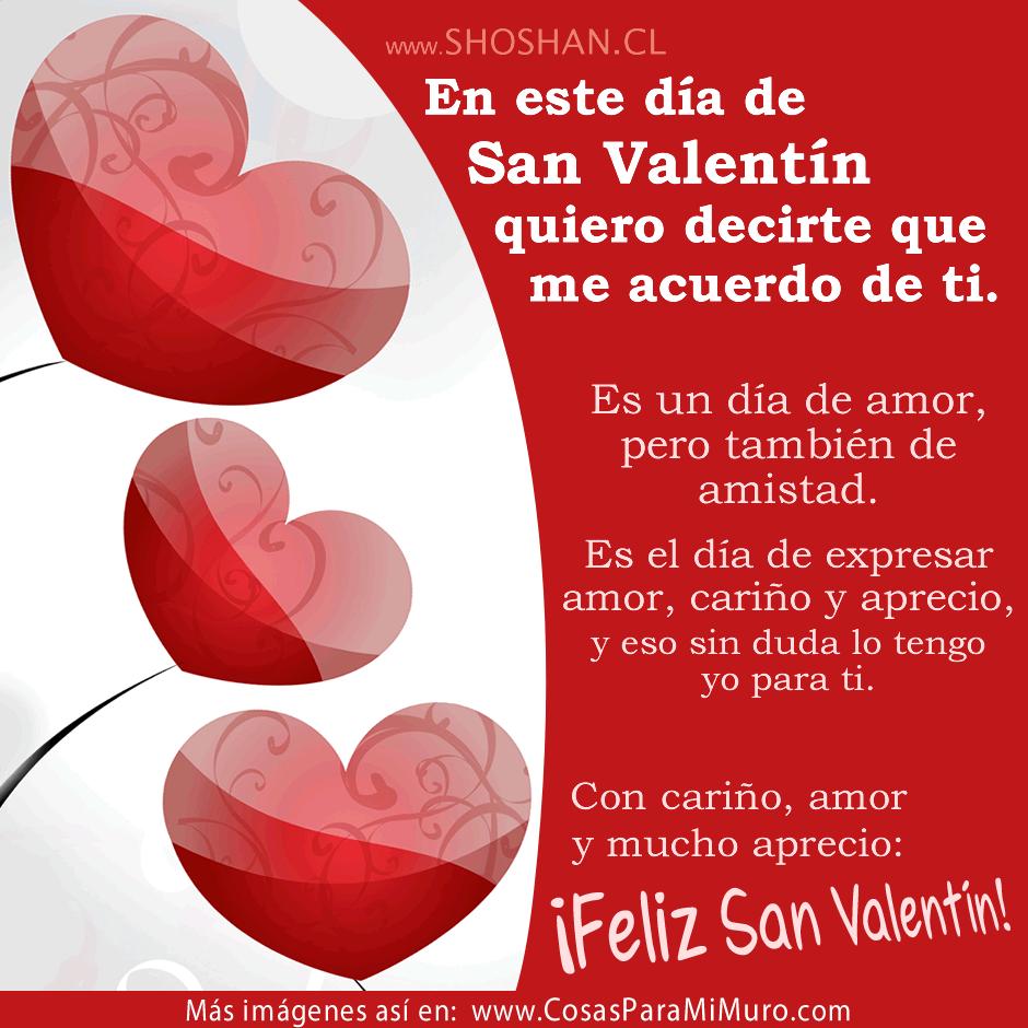 San Valentin Dia De Amor Y Amistad Cosas Para Mi Muro