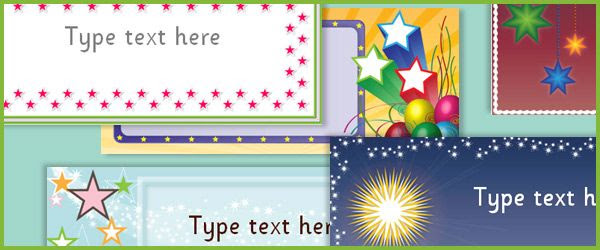 Editable Star Labels...Editable star themed labels.Ideal to use on ...