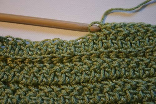 minty scarf in progress