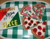 Fresh Pizza Coaster Set