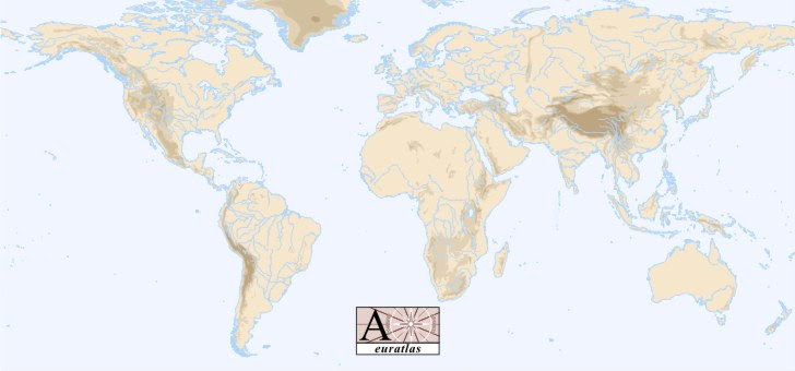 World map rivers mountains hd wallpaper desktop the major rivers of the world click a river name here below gumiabroncs Gallery