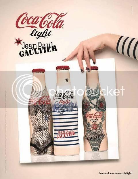 Jean Paul Gaultier New Tattoo Bottle for Diet Coke