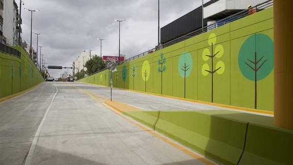 El viaducto de avenida San Martín, parte fundamental del Metrobus que se estrenará en unos quince días.