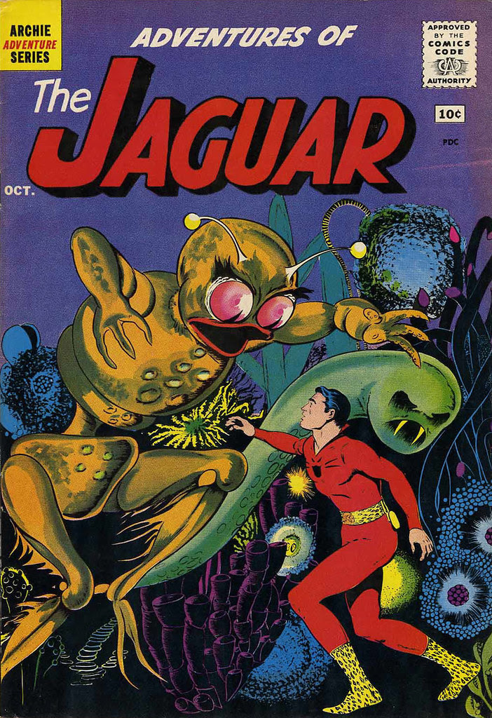 Adventures of the Jaguar #2 John Rosenberger Cover (Archie, 1961)